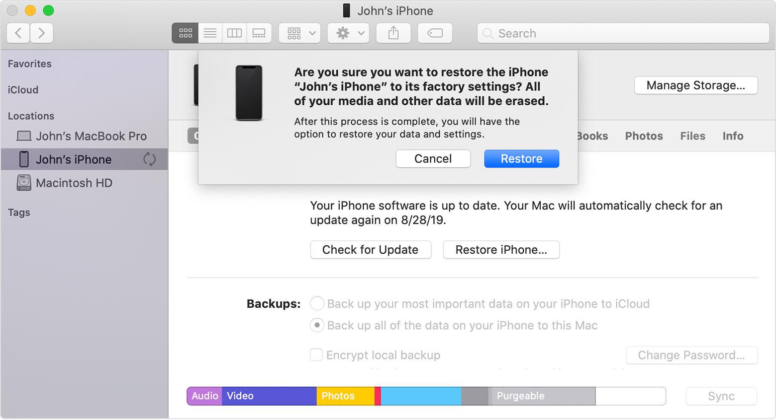 iPhone Cihazlarınızı Fabrika Ayarlarına Geri Yükleme (Format Atma)